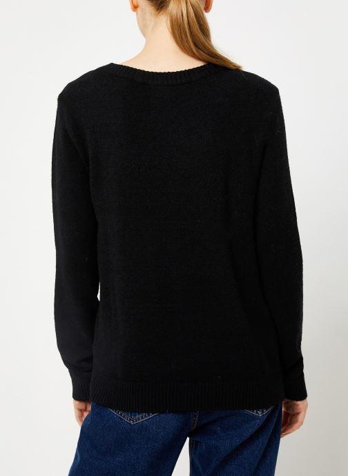 Vêtements Vila Viril Knit Top Noir vue portées chaussures