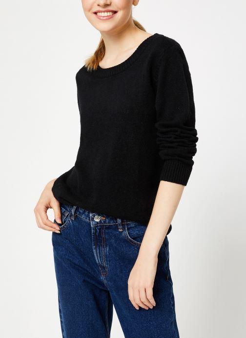 Vêtements Vila Viril Knit Top Noir vue droite
