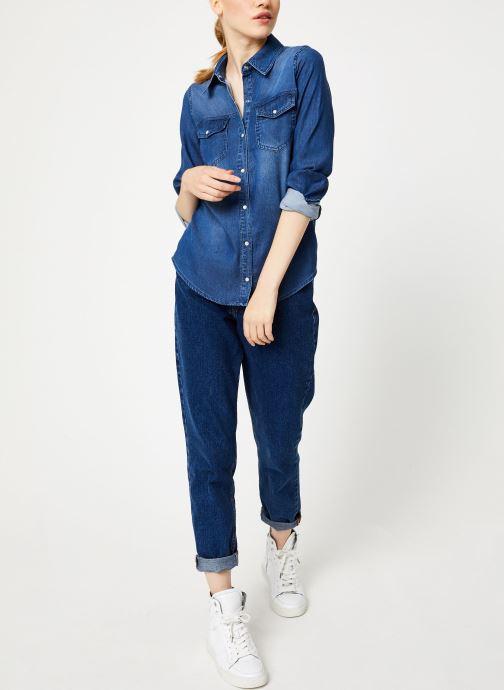 Tøj Vila Vibista Denim Shirt Blå se forneden