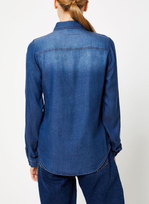 Vêtements Vila Vibista Denim Shirt Bleu vue portées chaussures