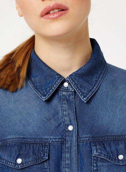 Tøj Vila Vibista Denim Shirt Blå se forfra