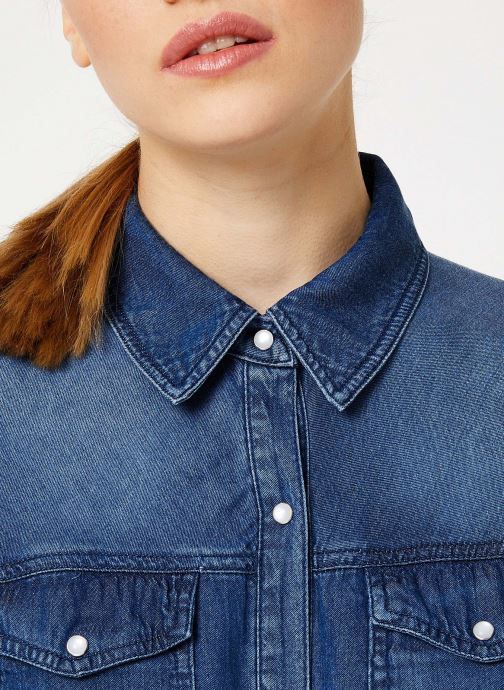 Vêtements Vila Vibista Denim Shirt Bleu vue face