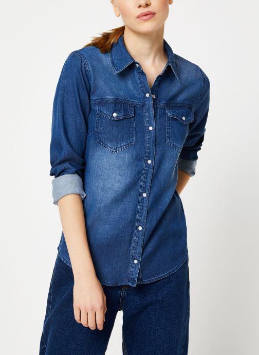 Tøj Vila Vibista Denim Shirt Blå Se fra højre