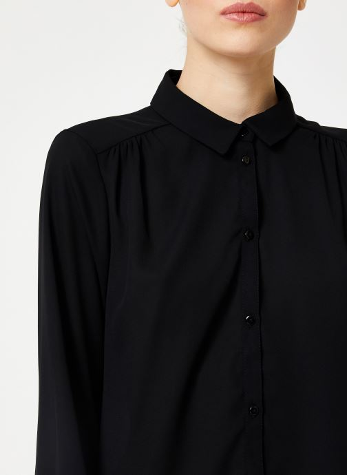 Vêtements Vila Vilucy Button Shirt Noir vue face