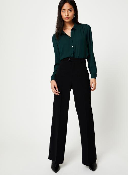 Vêtements Vila Vilucy Button Shirt Vert vue bas / vue portée sac