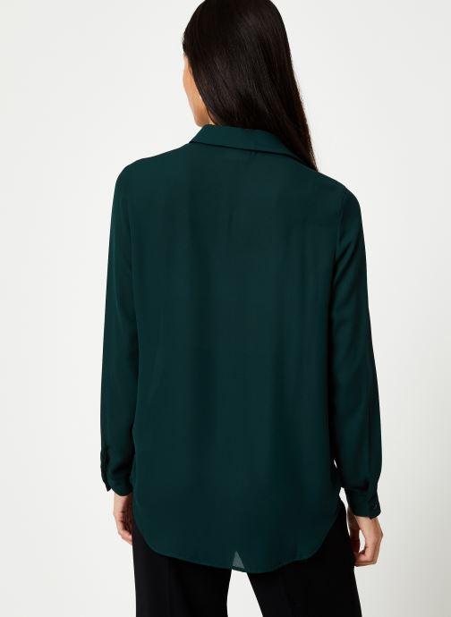 Vêtements Vila Vilucy Button Shirt Vert vue portées chaussures