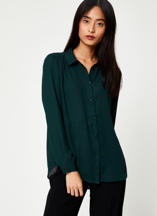 Vêtements Vila Vilucy Button Shirt Vert vue droite
