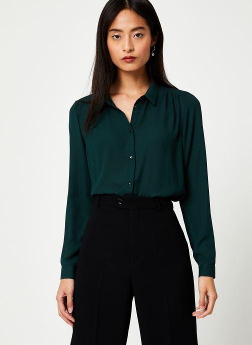 Vêtements Vila Vilucy Button Shirt Vert vue détail/paire