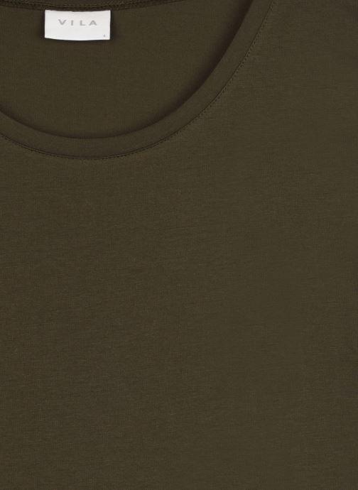 Vêtements Vila Vidreamers T-Shirt Vert vue face