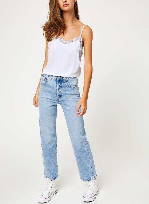 Vêtements Vila Vicava Lace Singlet Blanc vue bas / vue portée sac