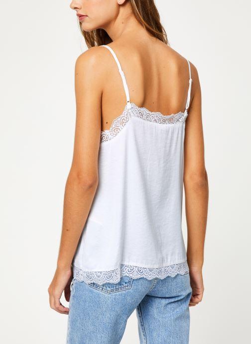 Vêtements Vila Vicava Lace Singlet Blanc vue portées chaussures