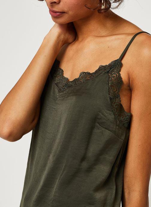 Vêtements Vila Vicava Lace Singlet Vert vue face