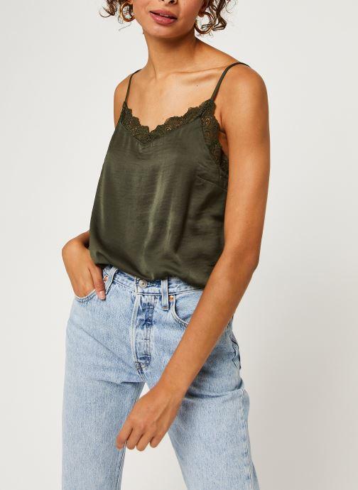 Vêtements Vila Vicava Lace Singlet Vert vue droite