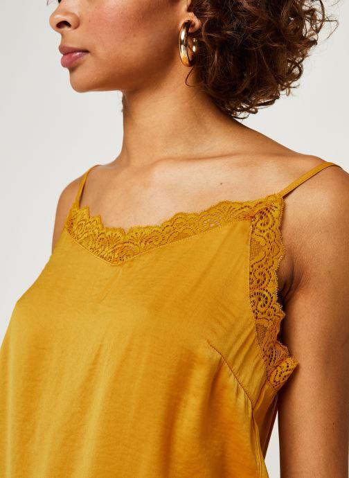 Vêtements Vila Vicava Lace Singlet Jaune vue face
