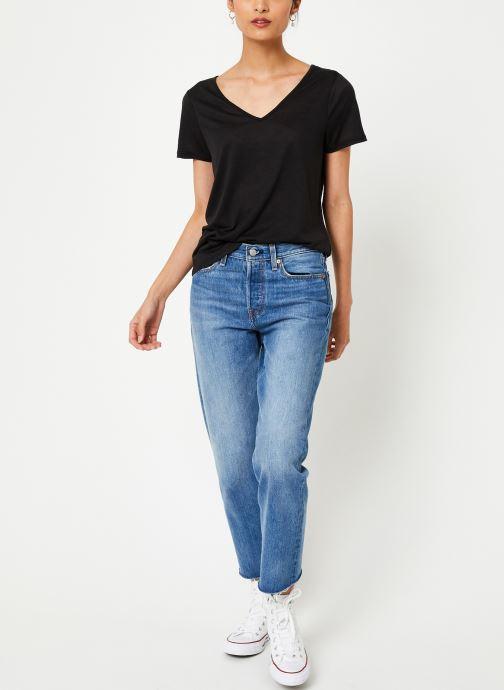 Vêtements Vila Vinoel T-Shirt Noir vue bas / vue portée sac