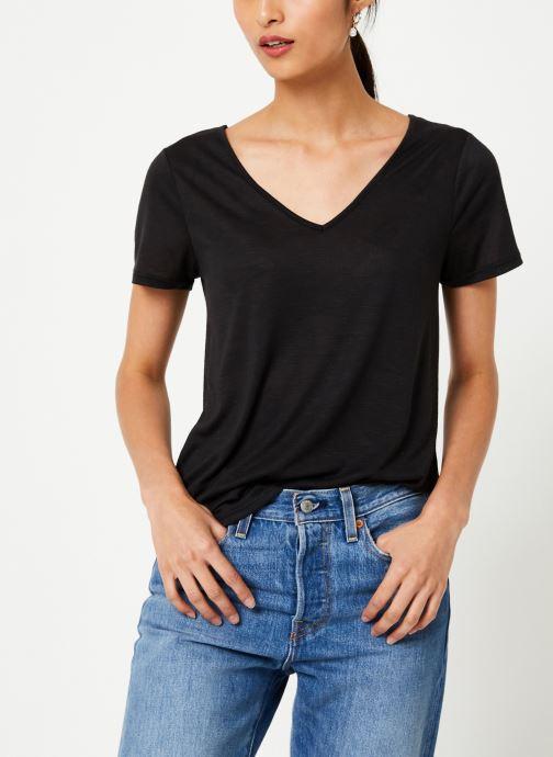 Vêtements Vila Vinoel T-Shirt Noir vue droite