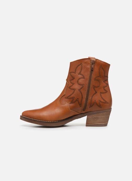 Bottines et boots MTNG Western Marron vue face