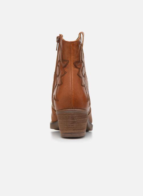 Bottines et boots MTNG Western Marron vue droite