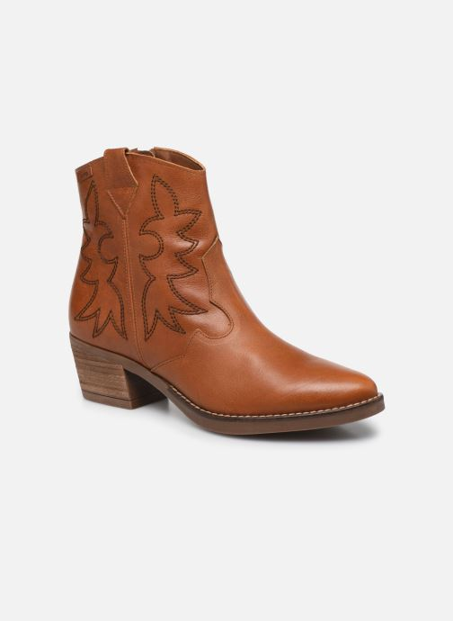 Bottines et boots MTNG Western Marron vue détail/paire
