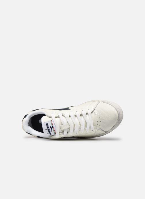 Sneaker Diadora Game L Low Waxed Wn weiß ansicht von links
