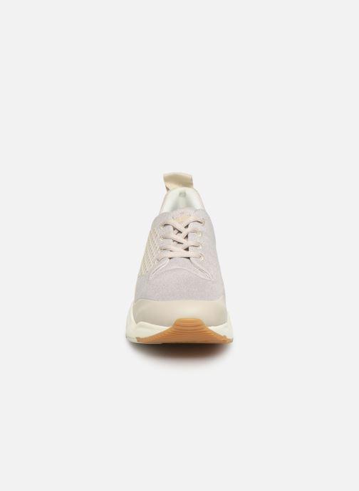 Baskets Timberland Delphiville Textile Sneaker Beige vue portées chaussures