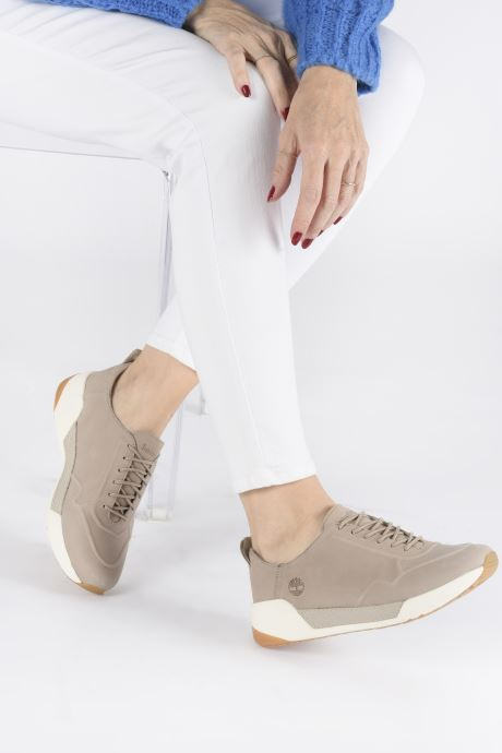 Trainers Timberland Kiri Up New Leather Ox Beige view from underneath / model view