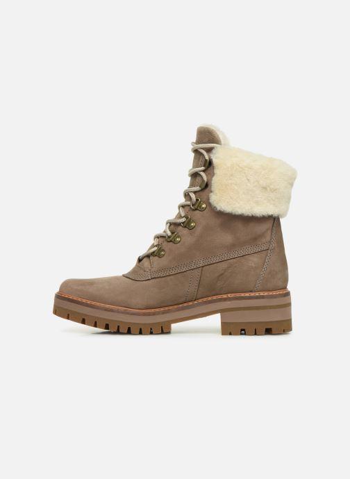 Boots en enkellaarsjes Timberland Courmayeur Valley 6in wShearling Grijs voorkant
