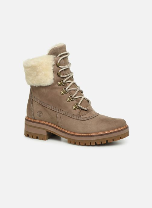 Bottines et boots Timberland Courmayeur Valley 6in wShearling Gris vue détail/paire