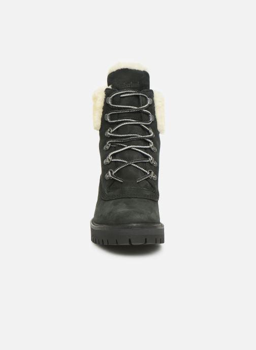 Bottines et boots Timberland Courmayeur Valley 6in wShearling Noir vue portées chaussures