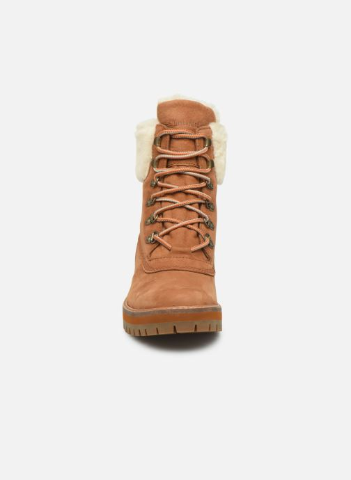 Bottines et boots Timberland Courmayeur Valley 6in wShearling Marron vue portées chaussures