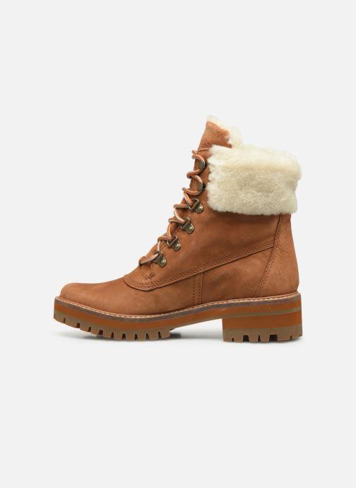 Boots en enkellaarsjes Timberland Courmayeur Valley 6in wShearling Bruin voorkant