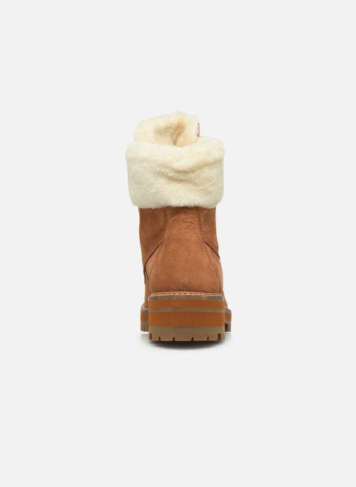 Boots en enkellaarsjes Timberland Courmayeur Valley 6in wShearling Bruin rechts