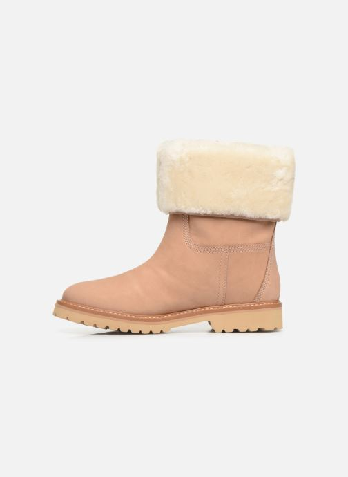 Bottines et boots Timberland Chamonix Valley WP Shearling Fold Down Beige vue face