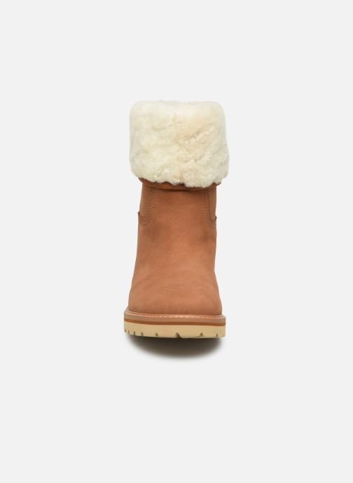 Bottines et boots Timberland Chamonix Valley WP Shearling Fold Down Marron vue portées chaussures