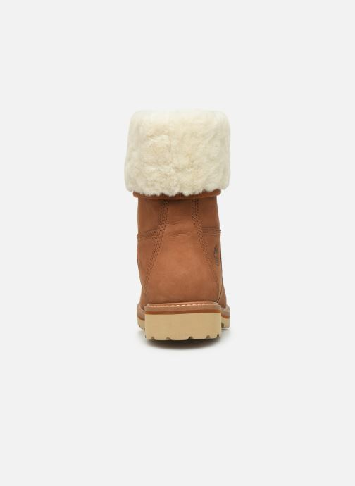 Bottines et boots Timberland Chamonix Valley WP Shearling Fold Down Marron vue droite
