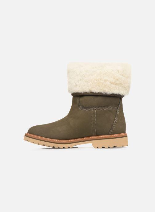 Boots en enkellaarsjes Timberland Chamonix Valley WP Shearling Fold Down Groen voorkant