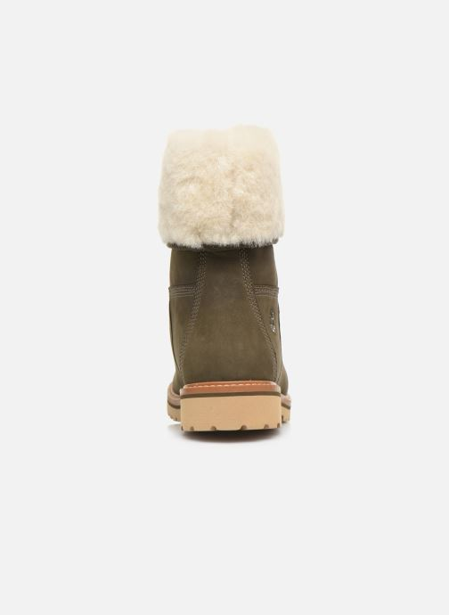 Bottines et boots Timberland Chamonix Valley WP Shearling Fold Down Vert vue droite