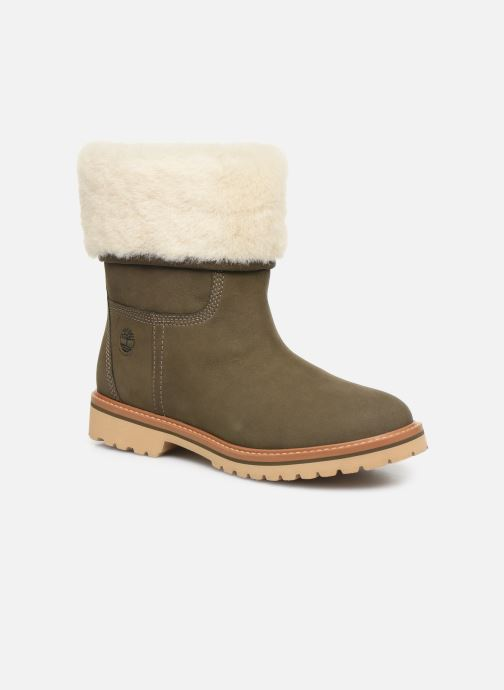 Bottines et boots Timberland Chamonix Valley WP Shearling Fold Down Vert vue détail/paire