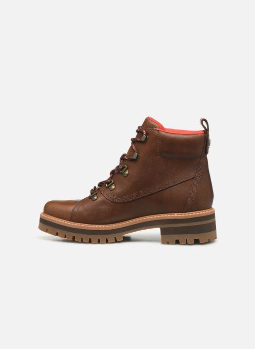 Boots en enkellaarsjes Timberland Courmayeur Valley WP Hiker Bruin voorkant