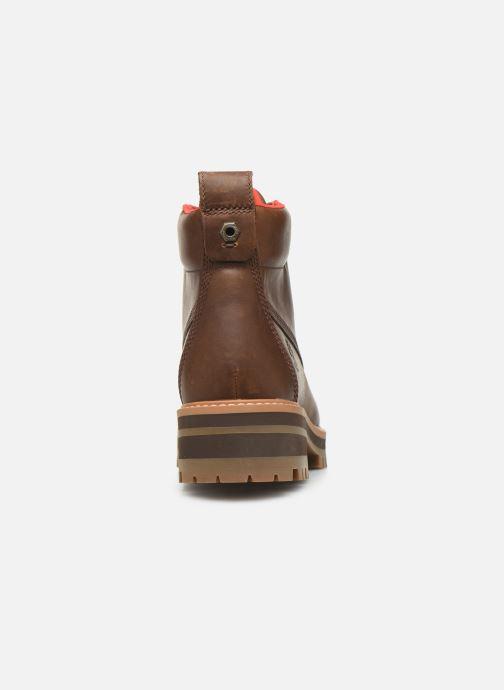 Boots en enkellaarsjes Timberland Courmayeur Valley WP Hiker Bruin rechts