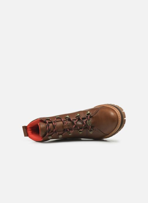 Boots en enkellaarsjes Timberland Courmayeur Valley WP Hiker Bruin links