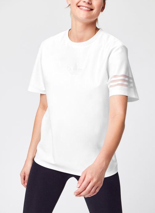 Vêtements adidas originals T-Shirt Blanc vue détail/paire