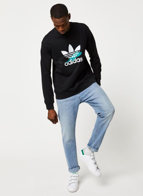 Vêtements adidas originals Sweatshirt Noir vue bas / vue portée sac