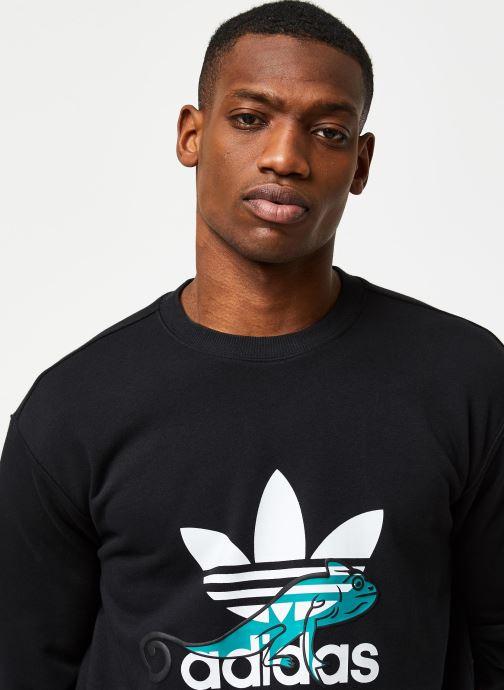 Vêtements adidas originals Sweatshirt Noir vue face
