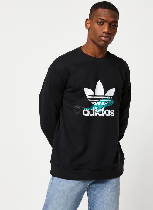 Vêtements adidas originals Sweatshirt Noir vue droite