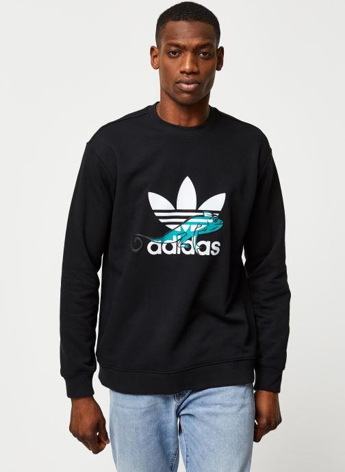 Vêtements adidas originals Sweatshirt Noir vue détail/paire