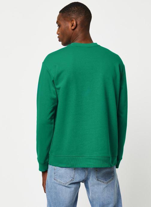 Vêtements adidas originals Sweatshirt Vert vue portées chaussures