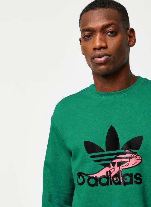Vêtements adidas originals Sweatshirt Vert vue face