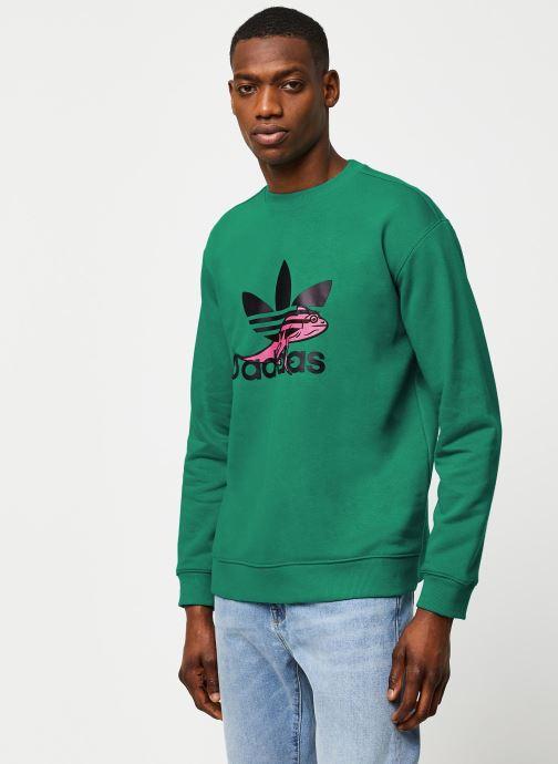Vêtements adidas originals Sweatshirt Vert vue droite