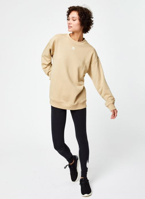 Vêtements adidas originals Sweatshirt Beige vue bas / vue portée sac